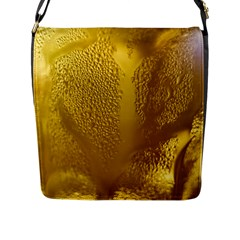 Beer Beverage Glass Yellow Cup Flap Messenger Bag (L)