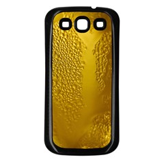Beer Beverage Glass Yellow Cup Samsung Galaxy S3 Back Case (black)
