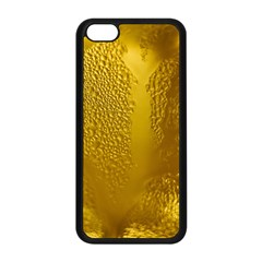 Beer Beverage Glass Yellow Cup Apple Iphone 5c Seamless Case (black)