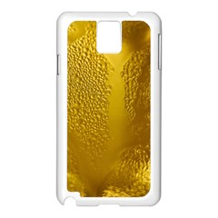 Beer Beverage Glass Yellow Cup Samsung Galaxy Note 3 N9005 Case (white)