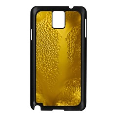 Beer Beverage Glass Yellow Cup Samsung Galaxy Note 3 N9005 Case (Black)