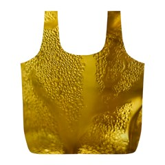 Beer Beverage Glass Yellow Cup Full Print Recycle Bags (l)