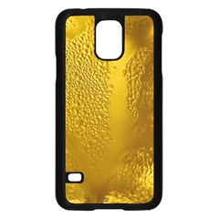 Beer Beverage Glass Yellow Cup Samsung Galaxy S5 Case (black)