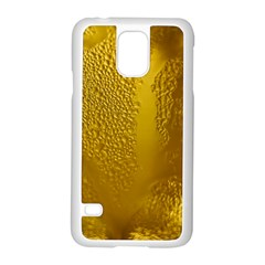 Beer Beverage Glass Yellow Cup Samsung Galaxy S5 Case (white)