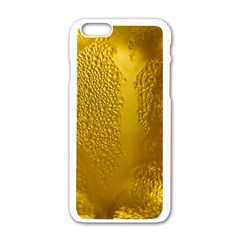 Beer Beverage Glass Yellow Cup Apple iPhone 6/6S White Enamel Case