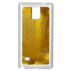Beer Beverage Glass Yellow Cup Samsung Galaxy Note 4 Case (white)