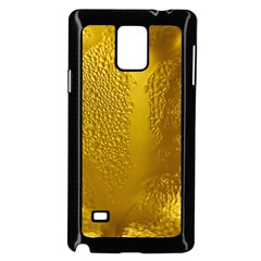 Beer Beverage Glass Yellow Cup Samsung Galaxy Note 4 Case (black)