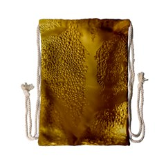 Beer Beverage Glass Yellow Cup Drawstring Bag (Small)
