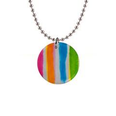 Watercolors stripes             1  Button Necklace