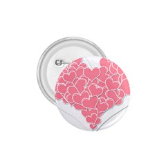 Heart Stripes Symbol Striped 1 75  Buttons