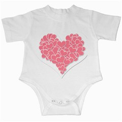 Heart Stripes Symbol Striped Infant Creepers