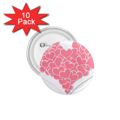Heart Stripes Symbol Striped 1 75  Buttons (10 Pack)