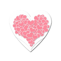 Heart Stripes Symbol Striped Heart Magnet
