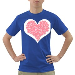 Heart Stripes Symbol Striped Dark T Shirt