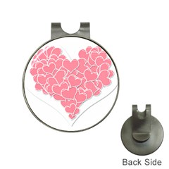 Heart Stripes Symbol Striped Hat Clips With Golf Markers