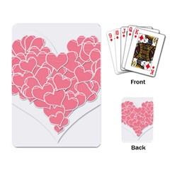Heart Stripes Symbol Striped Playing Card