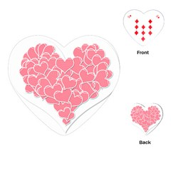 Heart Stripes Symbol Striped Playing Cards (Heart)