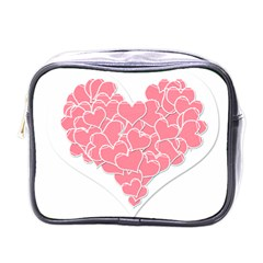 Heart Stripes Symbol Striped Mini Toiletries Bags