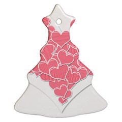 Heart Stripes Symbol Striped Ornament (Christmas Tree)