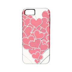 Heart Stripes Symbol Striped Apple Iphone 5 Classic Hardshell Case (pc+silicone)