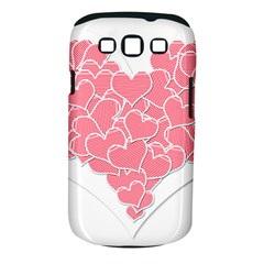 Heart Stripes Symbol Striped Samsung Galaxy S Iii Classic Hardshell Case (pc+silicone)