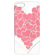 Heart Stripes Symbol Striped Apple iPhone 5 Hardshell Case with Stand