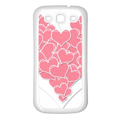 Heart Stripes Symbol Striped Samsung Galaxy S3 Back Case (White)