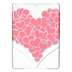 Heart Stripes Symbol Striped Ipad Air Hardshell Cases