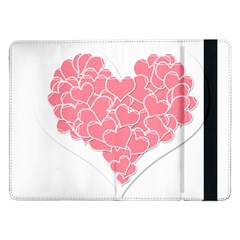 Heart Stripes Symbol Striped Samsung Galaxy Tab Pro 12.2  Flip Case