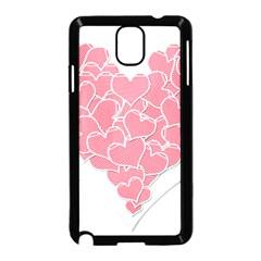 Heart Stripes Symbol Striped Samsung Galaxy Note 3 Neo Hardshell Case (Black)