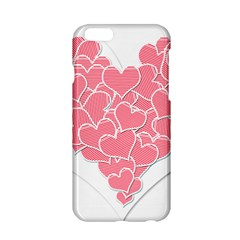 Heart Stripes Symbol Striped Apple Iphone 6/6s Hardshell Case