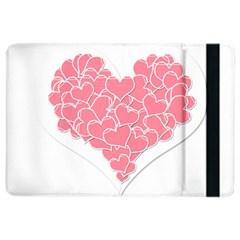 Heart Stripes Symbol Striped Ipad Air 2 Flip