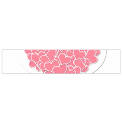 Heart Stripes Symbol Striped Flano Scarf (small)