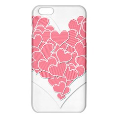 Heart Stripes Symbol Striped Iphone 6 Plus/6s Plus Tpu Case