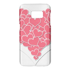 Heart Stripes Symbol Striped Samsung Galaxy S7 Hardshell Case