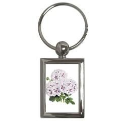 Flower Plant Blossom Bloom Vintage Key Chains (Rectangle)