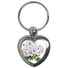 Flower Plant Blossom Bloom Vintage Key Chains (heart)
