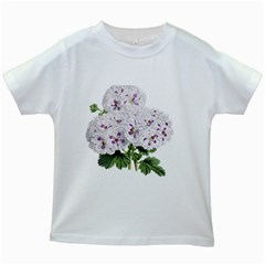 Flower Plant Blossom Bloom Vintage Kids White T Shirts