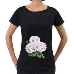 Flower Plant Blossom Bloom Vintage Women s Loose Fit T Shirt (black)