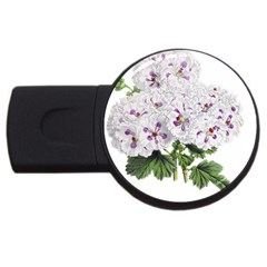 Flower Plant Blossom Bloom Vintage Usb Flash Drive Round (4 Gb)
