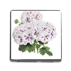 Flower Plant Blossom Bloom Vintage Memory Card Reader (Square)
