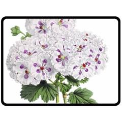 Flower Plant Blossom Bloom Vintage Fleece Blanket (large)