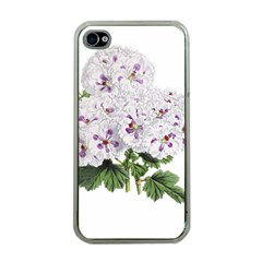 Flower Plant Blossom Bloom Vintage Apple iPhone 4 Case (Clear)