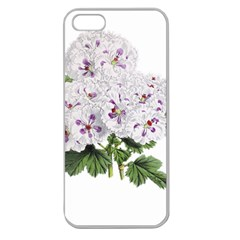 Flower Plant Blossom Bloom Vintage Apple Seamless iPhone 5 Case (Clear)