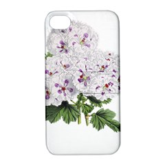 Flower Plant Blossom Bloom Vintage Apple Iphone 4/4s Hardshell Case With Stand