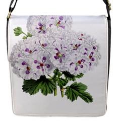 Flower Plant Blossom Bloom Vintage Flap Messenger Bag (S)