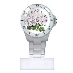 Flower Plant Blossom Bloom Vintage Plastic Nurses Watch