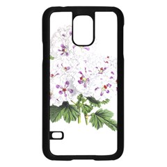 Flower Plant Blossom Bloom Vintage Samsung Galaxy S5 Case (Black)