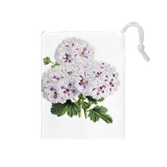 Flower Plant Blossom Bloom Vintage Drawstring Pouches (Medium)