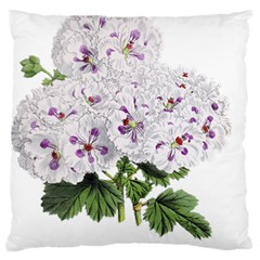 Flower Plant Blossom Bloom Vintage Large Flano Cushion Case (Two Sides)